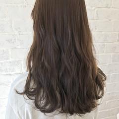 透明感 セミロング ミルクティーベージュ ベージュ ヘアスタイルや髪型の写真・画像