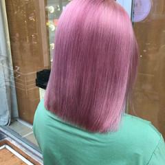 ラベンダーピンク ミニボブ ボブ ガーリー ヘアスタイルや髪型の写真・画像