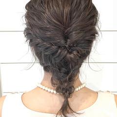 ミディアム ゆるふわ ヘアアレンジ フェミニン ヘアスタイルや髪型の写真・画像