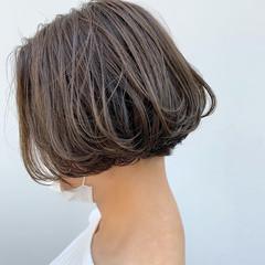ナチュラル ベージュ ボブ ミニボブ ヘアスタイルや髪型の写真・画像