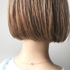 透明感カラー ナチュラル ボブ 透明感 ヘアスタイルや髪型の写真・画像