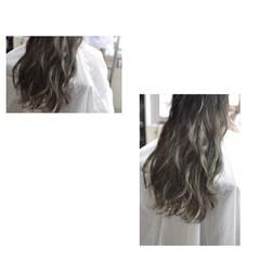 グレージュ 外国人風カラー エレガント 上品 ヘアスタイルや髪型の写真・画像