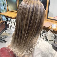 極細ハイライト コントラストハイライト ハイライト ストリート ヘアスタイルや髪型の写真・画像