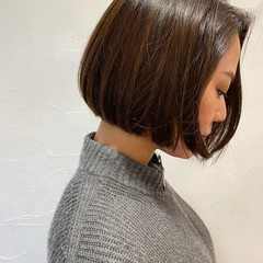 切りっぱなしボブ ショートヘア ミニボブ ベリーショート ヘアスタイルや髪型の写真・画像