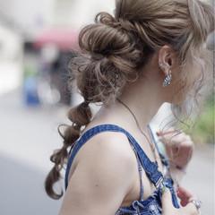 ガーリー デート バレンタイン 簡単ヘアアレンジ ヘアスタイルや髪型の写真・画像