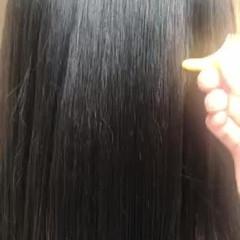 ツヤ髪 ダークアッシュ ロング トリートメント ヘアスタイルや髪型の写真・画像