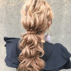 簡単ヘアアレンジ セミロング 外国人風 ヘアアレンジ ヘアスタイルや髪型の写真・画像