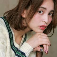 外国人風 大人かわいい マルサラ ボブ ヘアスタイルや髪型の写真・画像