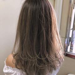 セミロング ワンカール レイヤーカット ゆるふわ ヘアスタイルや髪型の写真・画像