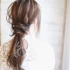 結婚式 パーティ フェミニン ヘアアレンジ ヘアスタイルや髪型の写真・画像