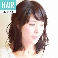 セミロング モテ髪 ストリート 愛され ヘアスタイルや髪型の写真・画像