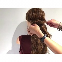 夏 ロング アウトドア ヘアアレンジ ヘアスタイルや髪型の写真・画像