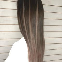 グラデーション ハイライト エクステ ロング ヘアスタイルや髪型の写真・画像