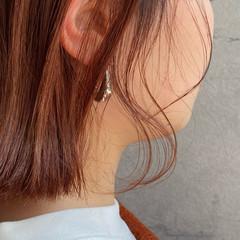 切りっぱなしボブ ピンクラベンダー ベリーピンク ナチュラル ヘアスタイルや髪型の写真・画像