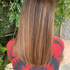 髪質改善カラー 白髪染め 大人ハイライト ロング ヘアスタイルや髪型の写真・画像