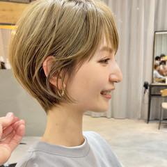 切りっぱなしボブ ショートヘア ショートボブ ショート ヘアスタイルや髪型の写真・画像