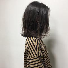 ナチュラル 透明感カラー ロブ 外ハネボブ ヘアスタイルや髪型の写真・画像