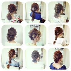三つ編み 編み込み お団子 簡単ヘアアレンジ ヘアスタイルや髪型の写真・画像