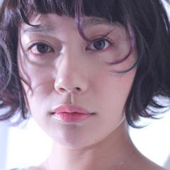 ハイライト グラデーションカラー モード フェミニン ヘアスタイルや髪型の写真・画像