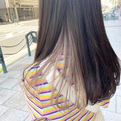 ブリーチカラー ブリーチ ロング ナチュラル ヘアスタイルや髪型の写真・画像