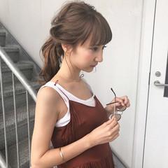 女子会 ナチュラル 涼しげ 夏 ヘアスタイルや髪型の写真・画像