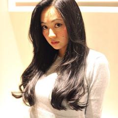 ナチュラル 黒髪 ロング 暗髪 ヘアスタイルや髪型の写真・画像