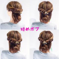 アウトドア ヘアアレンジ デート フェミニン ヘアスタイルや髪型の写真・画像