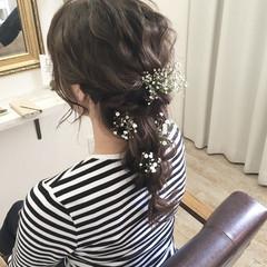 ブライダル ナチュラル 結婚式 ヘアアレンジ ヘアスタイルや髪型の写真・画像