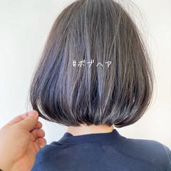 重軽 切りっぱなしボブ ショートボブ ミニボブ ヘアスタイルや髪型の写真・画像