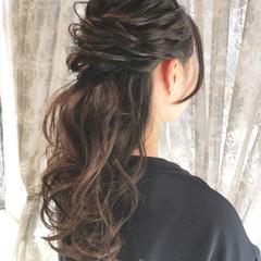 お呼ばれ 波ウェーブ ロング 上品 ヘアスタイルや髪型の写真・画像