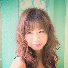 フェミニン ゆるふわ セミロング かわいい ヘアスタイルや髪型の写真・画像