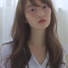 外国人風 コンサバ シースルーバング ロング ヘアスタイルや髪型の写真・画像