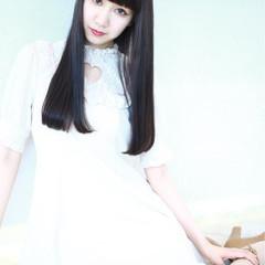 色気 ロング モード 黒髪 ヘアスタイルや髪型の写真・画像