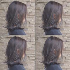 大人かわいい ボブ デート ハイライト ヘアスタイルや髪型の写真・画像