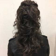 アッシュ ニュアンス エレガント セミロング ヘアスタイルや髪型の写真・画像