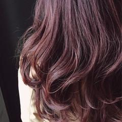 女子力 ピンク ガーリー ピンクアッシュ ヘアスタイルや髪型の写真・画像