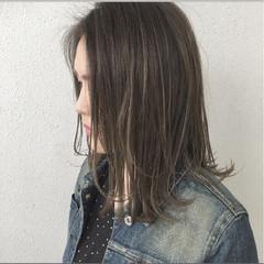 グラデーションカラー ハイライト 春 ナチュラル ヘアスタイルや髪型の写真・画像