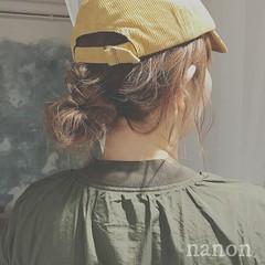 ヘアアレンジ スポーツ アウトドア ミディアム ヘアスタイルや髪型の写真・画像