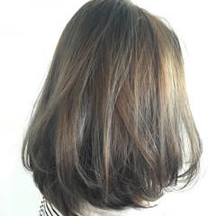 グラデーションカラー ナチュラル ボブ ハイライト ヘアスタイルや髪型の写真・画像