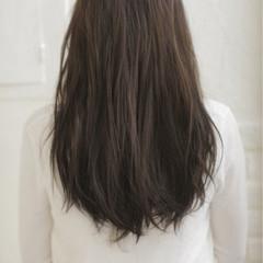 フェミニン ハイライト グラデーションカラー セミロング ヘアスタイルや髪型の写真・画像