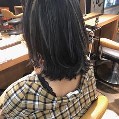 ヘアアレンジ インナーカラー 外ハネ スポーツ ヘアスタイルや髪型の写真・画像