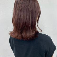フェミニン ミディアム ヨシンモリ デザインカラー ヘアスタイルや髪型の写真・画像