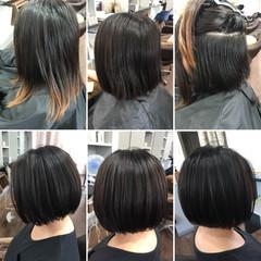フェミニン エフォートレス ショートボブ 大人女子 ヘアスタイルや髪型の写真・画像