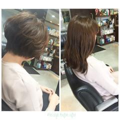 フェミニン 似合わせ ゆるふわ ショート ヘアスタイルや髪型の写真・画像