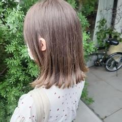 切りっぱなしボブ インナーカラー ガーリー セミロング ヘアスタイルや髪型の写真・画像