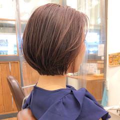 大人女子 ショートボブ ショートヘア ナチュラル ヘアスタイルや髪型の写真・画像