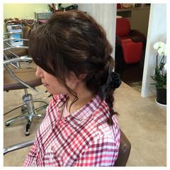 フェミニン 編み込み ヘアアレンジ ゆるふわ ヘアスタイルや髪型の写真・画像