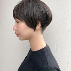 マッシュ ナチュラル ベリーショート マッシュヘア ヘアスタイルや髪型の写真・画像
