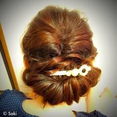 ガーリー フェミニン ゆるふわ セミロング ヘアスタイルや髪型の写真・画像