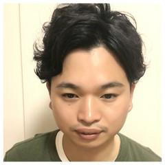 パーマ ショート 外ハネ 黒髪 ヘアスタイルや髪型の写真・画像